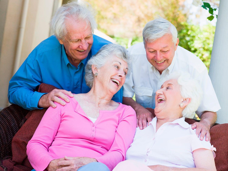 Seniors in Senior living